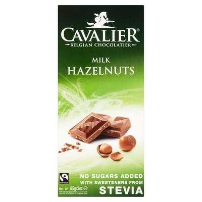 Cavalier Belgian Milk Chocolate with Hazelnuts 85g