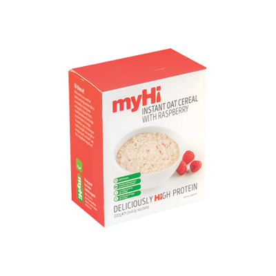 myHi Instant Oat Cereal with Raspberries 40g - 5 Sachets