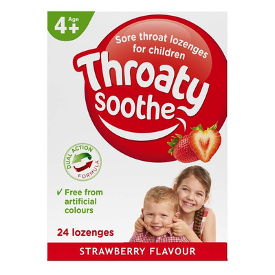 Throaty Soothe Sore Throat Lozenges for Children - Pack of 24