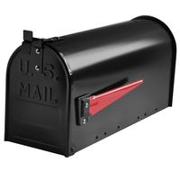 Mississippi US mailbox in black aluminium