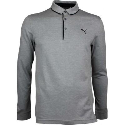 Puma Golf Shirt Tailored LS Polo Quiet Shade AW17