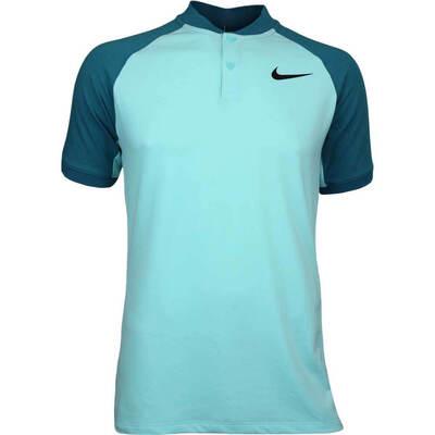 Nike Golf Shirt NK Dry Raglan Blade Light Aqua AW17
