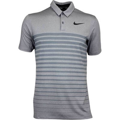 Nike Golf Shirt NK Dry Stripe Dark Grey AW17
