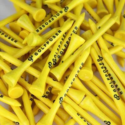 Golfposer GP Golf Tees Citron Yellow Pack of 50