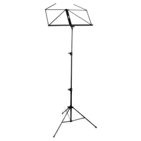 Tiger Portable Folding Sheet Music Stand with Bag - Black