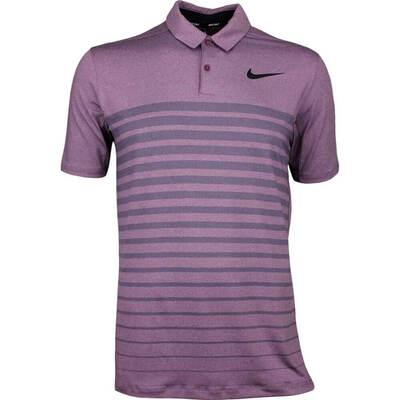 Nike Golf Shirt NK Dry Stripe Bordeaux AW17