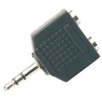 Adaptor 3.5mm Stereo Jack To 2 x 3.5mm Stereo Jack