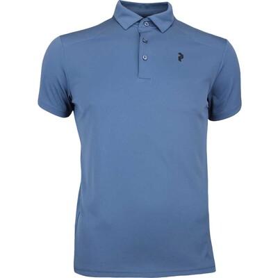 Peak Performance Golf Shirt Versec Blue Steel AW17