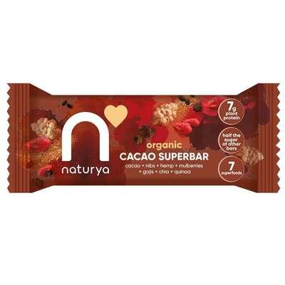 Naturya Organic Cacao Superbar 40g - Case of 16