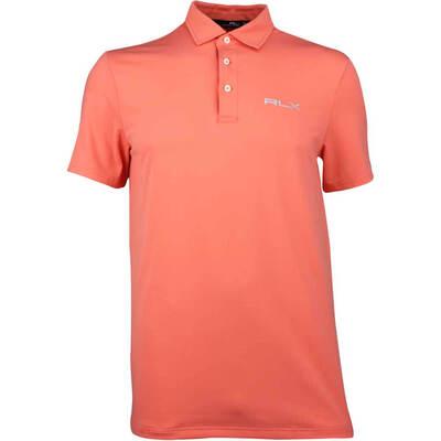 RLX Golf Shirt Solid Airflow Deep Mango SS18