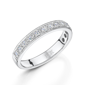 White Gold Brilliant Diamond Eternity Ring 0.50ct