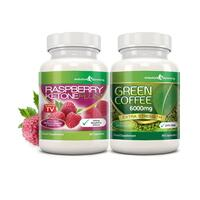 Image of Raspberry Ketone Plus & Green Coffee Fat Burner Combo - 1 Month Supply