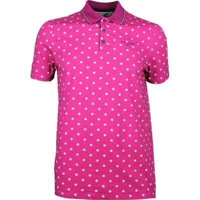 Ted Baker Golf Shirt Gulf Print Polo Fuchsia SS18