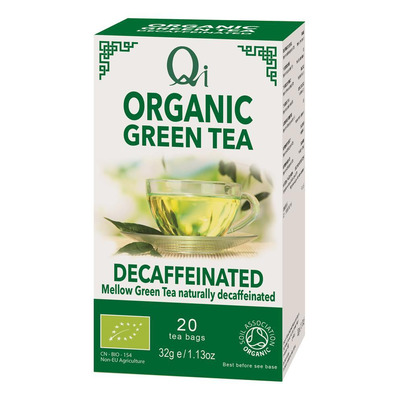 Qi Organic Decaffeinated Green Tea 20 Bags