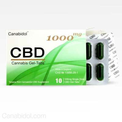 Canabidol CBD Gel-Tabs 1000mg - 10 Gel Tabs