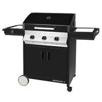 Cadac Meridian 3 Burner Gas BBQ with Side Burner - Black
