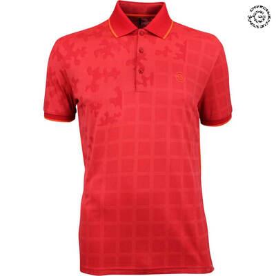 Galvin Green EDGE Golf Shirt E Red Camo 2018