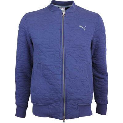 Puma Golf Jacket Quilted Bomber Peacoat LE AW18