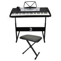 61 Key Electronic Keyboard Set with Bench & Headphones