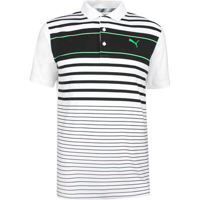 PUMA Golf Shirt Spotlight White Black SS19