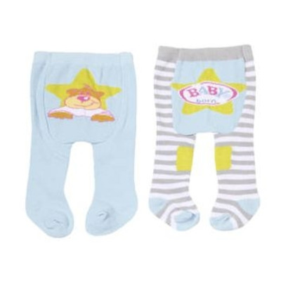 Baby Born Tights 2 Pack (Grey & Blue)