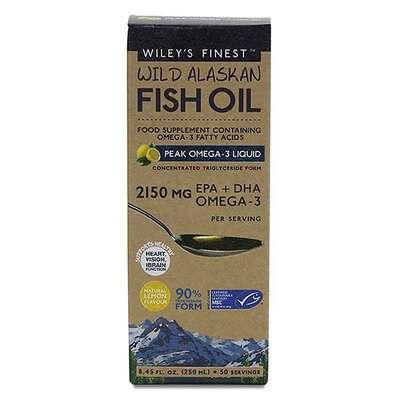 Wiley's Finest Peak Omega-3 Lemon Fish Oil 250ml