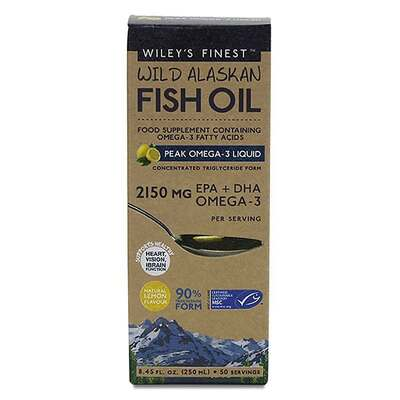 Wiley's Finest Peak Omega-3 Lemon Fish Oil 250ml