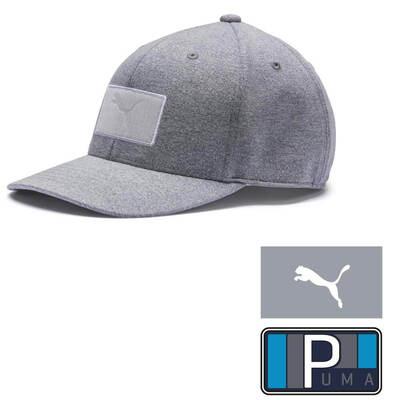 PUMA Golf Cap Patch 110 Snapback Quarry SS19