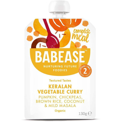 Babease Organic Keralan Vegetable Curry 130g - Stage 2 - Box of 6