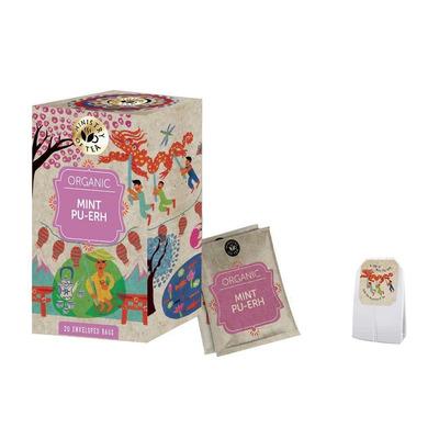 Ministry of Tea Organic Mint Pu Erh Infusion Tea 20 Bags