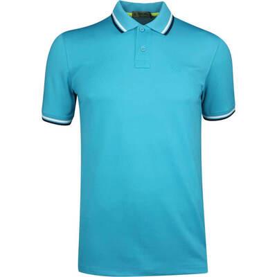 GFORE Golf Shirt Tipped Pique Polo Bluebird SS19