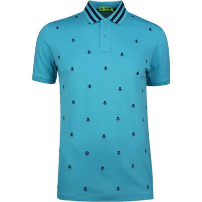 GFORE Golf Shirt Skull Ts Embroidered Polo Bluebird SS19