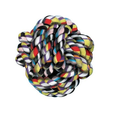 Lazy Bones Solid Cotton Rope Ball - Dog Toy