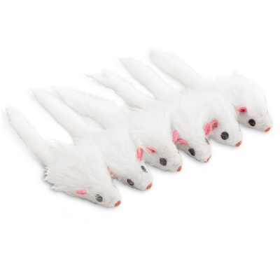 Ancol Furry Mice Cat Toy 6pk