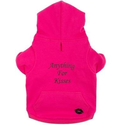 Ancol Pink Kisses Dog Hoodie