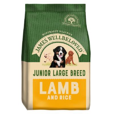 James Wellbeloved Large Breed Junior Lamb & Rice