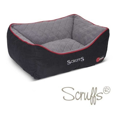Scruffs Black & Grey Thermal Box Pet Bed