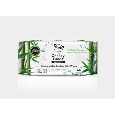 The Cheeky Panda Bamboo Baby Wipes - 64 Wipes