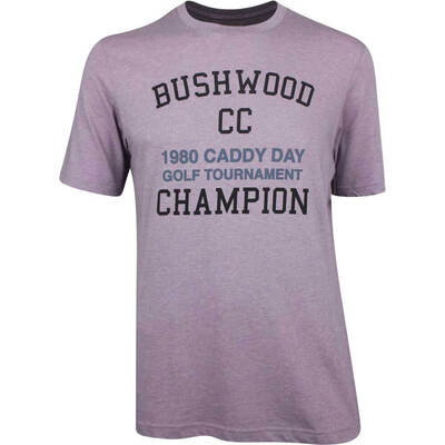 TravisMathew Golf T Shirt Caddy Day Heather Purple SS19
