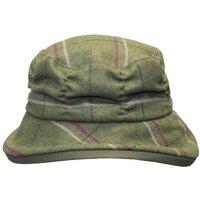 Walker & Hawkes Ladies Pink Stripe Rouche Style Country Tweed Hat - XS