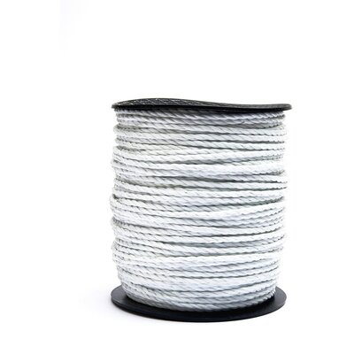 Hotline White 6mm Paddock Electric Fence Rope (Bulk) - 100m