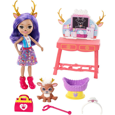 Enchantimals Danessa Deer Doll Caring Vet Playset, 6