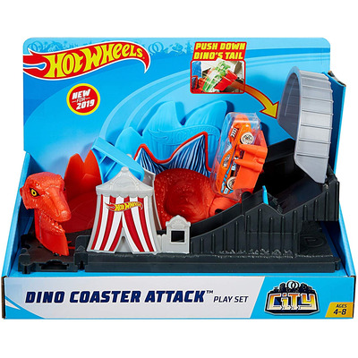 Hot Wheels City Nemesis Attack Set - Dino Coaster Attack