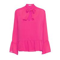 Pauline Silk Blouse - Pink Glow