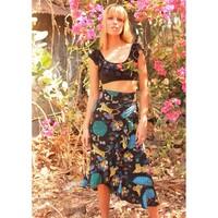 Mia Wrap Skirt - Black
