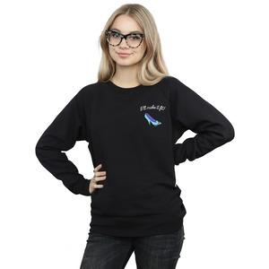 disney princess women's i'll make it fit breast print sweatshirt