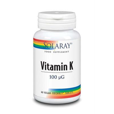 Solaray Vitamin K 100mcg 60 Tablets