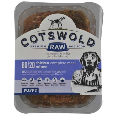 Cotswold Puppy 80/20 Raw Mince Dog Food 1kg