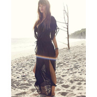 Freya Diva Plunge Neck Maxi Beach Dress 3760 Black 3760 Black