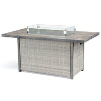 Kettler Palma Casual Dining Firepit Table White Wash